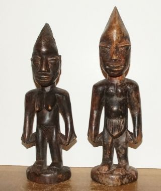 Yoruba People Ibeji Statues - Male & Female,  From Nigeria (4) photo