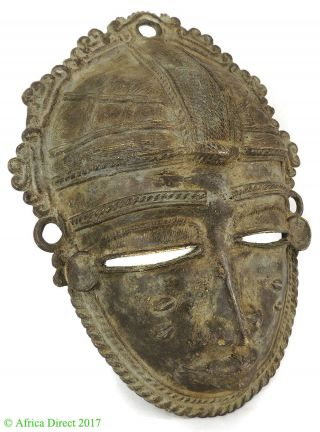 Baule Mask Bronze Cote D ' Ivoire African Art photo
