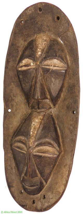 Songye Kifwebe Mask Congo African Art Was $210 photo