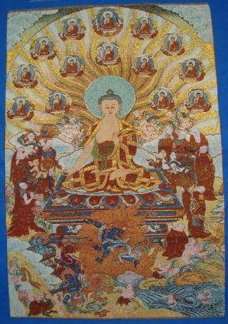 Tibet Silk Hand Painted Buddhism Painting Thangka C1(4) photo