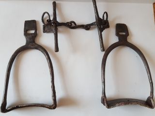 Rare Antique Viking Horse Stirrups And Bridle 8 - 10 A.  D. photo