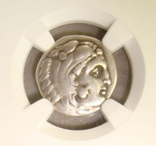 323 - 317 Bc Philip Iii Heracles/zeus Ancient Greek Silver Drachm Ngc Vf 5/5 4/5 photo