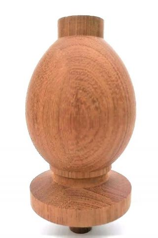 Brazilian Cherry Solid Wood Staircase Finial Newel Post Cap photo