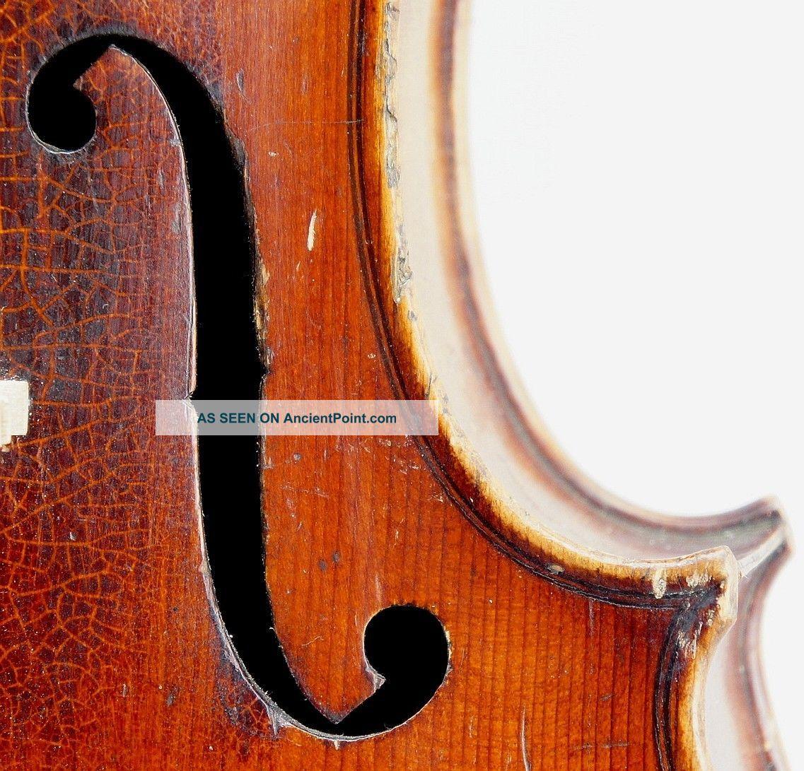 Fine Antique German Violin C.  1870, String photo