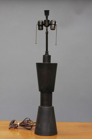 Modern Bronze Table Lamp - Laurel Lightolier Koch Lowy Marbro photo
