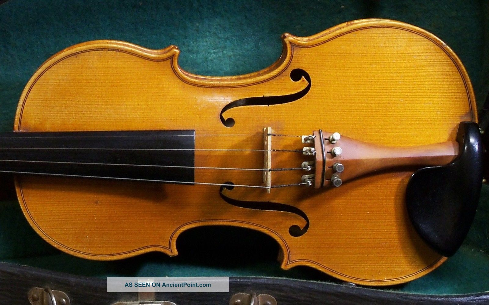 Old Violin Georg Albert Fischer 1958,  Branded,  Gagliano Copy String photo