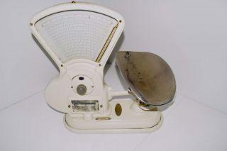 Rare 1917 ' S Heavy Duty White Toledo No.  415 T 3 Lb.  Candy Store Scale W/ Tray photo