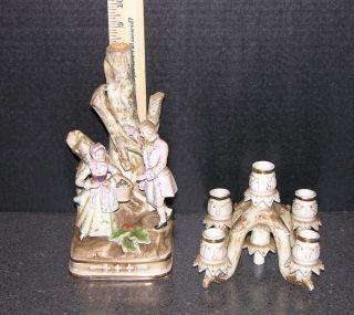 Vintage Porcelain Candleabra photo
