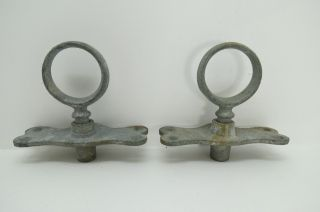 Galvanized Pair 2 Inch Oar Locks & Mounts For Row Boat (463) photo