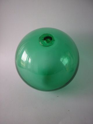 A Very Rare,  Green Fishing Float Ball Oresten Stranne Sweden 6