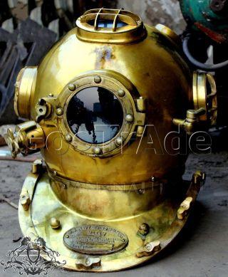 Antique Us Navy Vintage Dive Helmet Mark V Antique Diving Divers Helmet Go.  Trade photo
