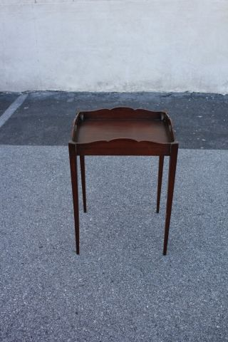 Darling Small English Mahogany Tray Top Side End Table photo