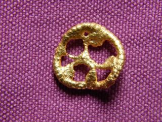 Ancient Rome,  Gold Pendant,  2 - 3 Century Ad,  1.  7 Gm photo