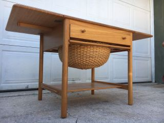 Delightful Mid Century Danish Modern Sewing Table By Hans J Wegner For Pp Mobler photo