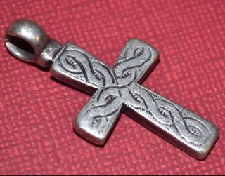 Antique Ethiopian Coptic Christian Orthodox Silver Cross Pendant Ethiopia Africa photo