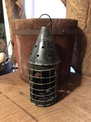 Primitive Candle Lantern photo