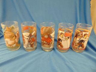 5 Star Wars Return Of The Jedi Movie Glasses Lucas Film Coca Cola Cups Luke Art photo