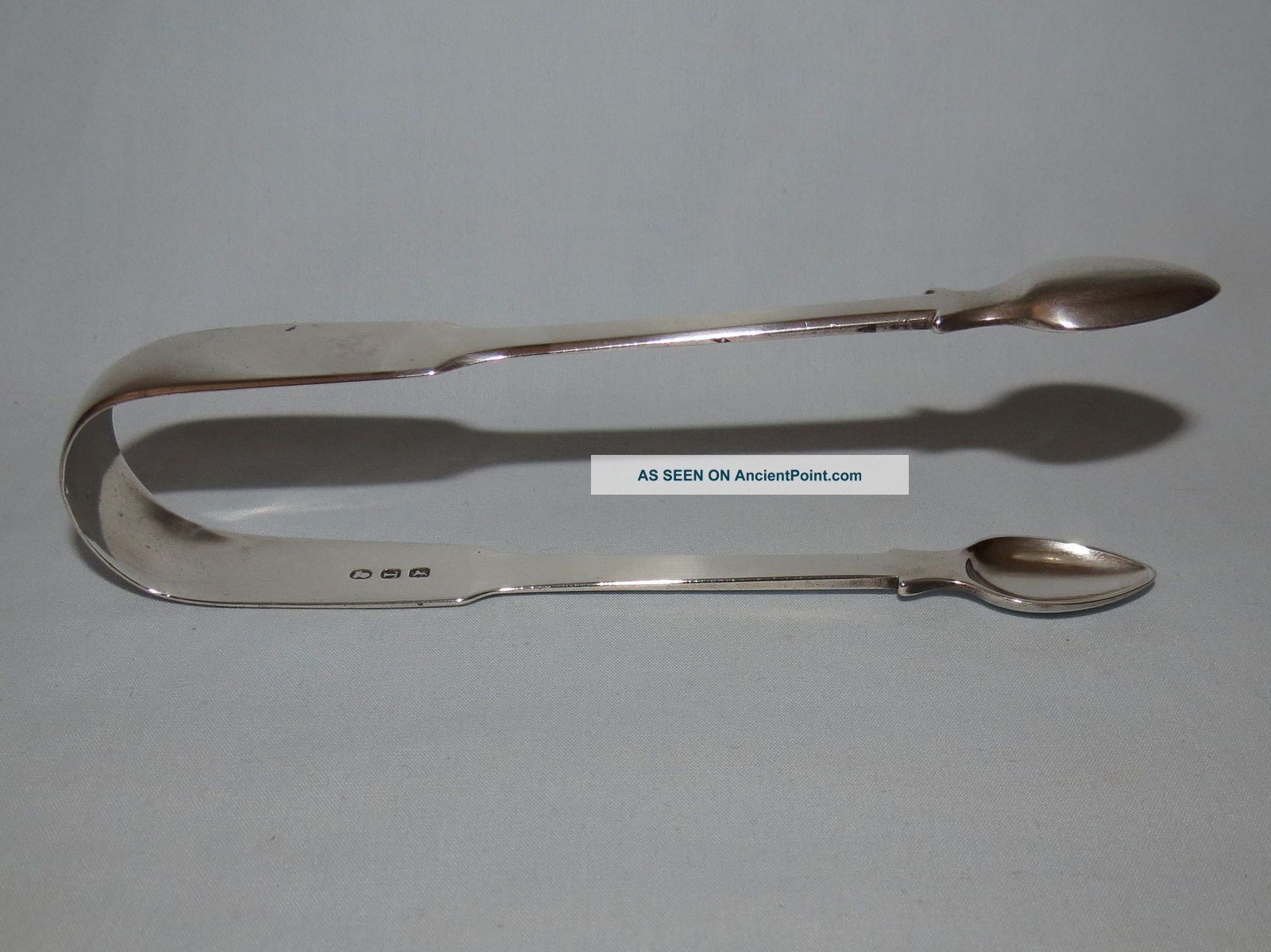 Pair Sterling Silver London 1814 Sugar Tongs Maker Tb 56 Grams Sterling Silver (.925) photo