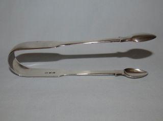 Pair Sterling Silver London 1814 Sugar Tongs Maker Tb 56 Grams photo