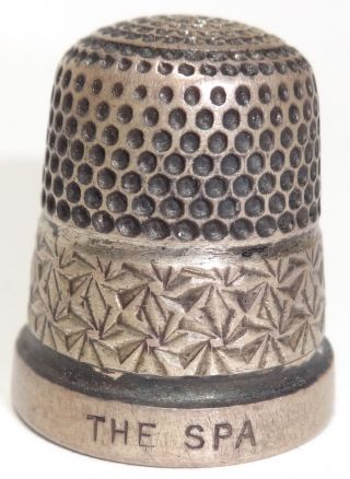 "Uk Sterling Silver Thimble Pinwheel Design ""the Spa"" Henry Griffith & Sons 1931 photo"