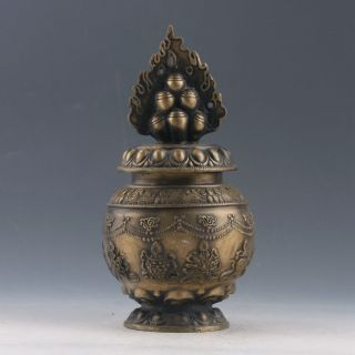 Chinese Brass Handwork Possession Of God Of Wealth & Instruments Incense Burner photo