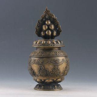 Chinese Brass Handwork Possession Of God Of Wealth & Instruments Incense Burner photo
