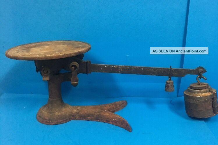 Antique Fairbanks Beam Balance Cast Iron & Brass Scale Crows Foot Base Ccd27 Scales photo