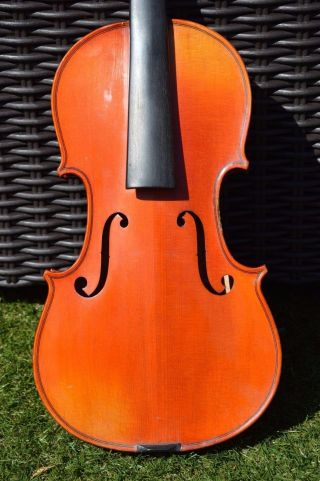 Breton Old French Violin Signed On Back 4/4 photo