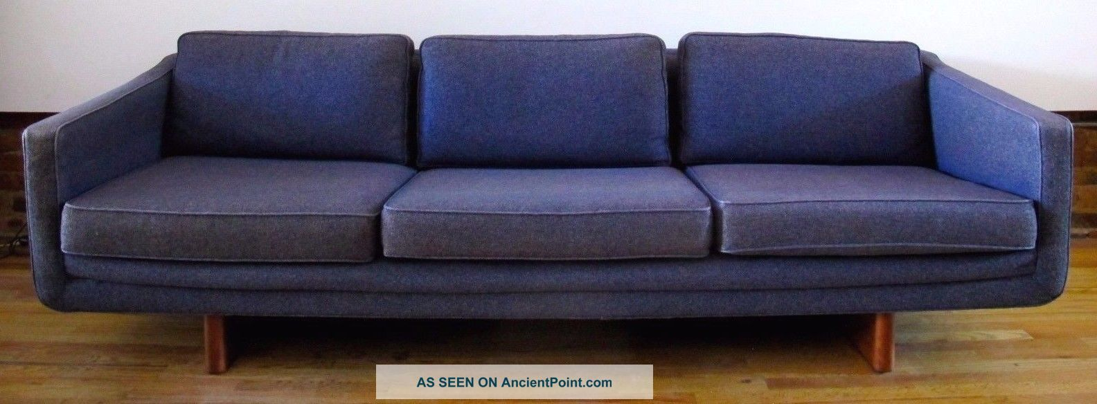 Mid Century Adrian Pearsall Style 7 1/2 Ft Sofa By Armstrong Modern Post-1950 photo