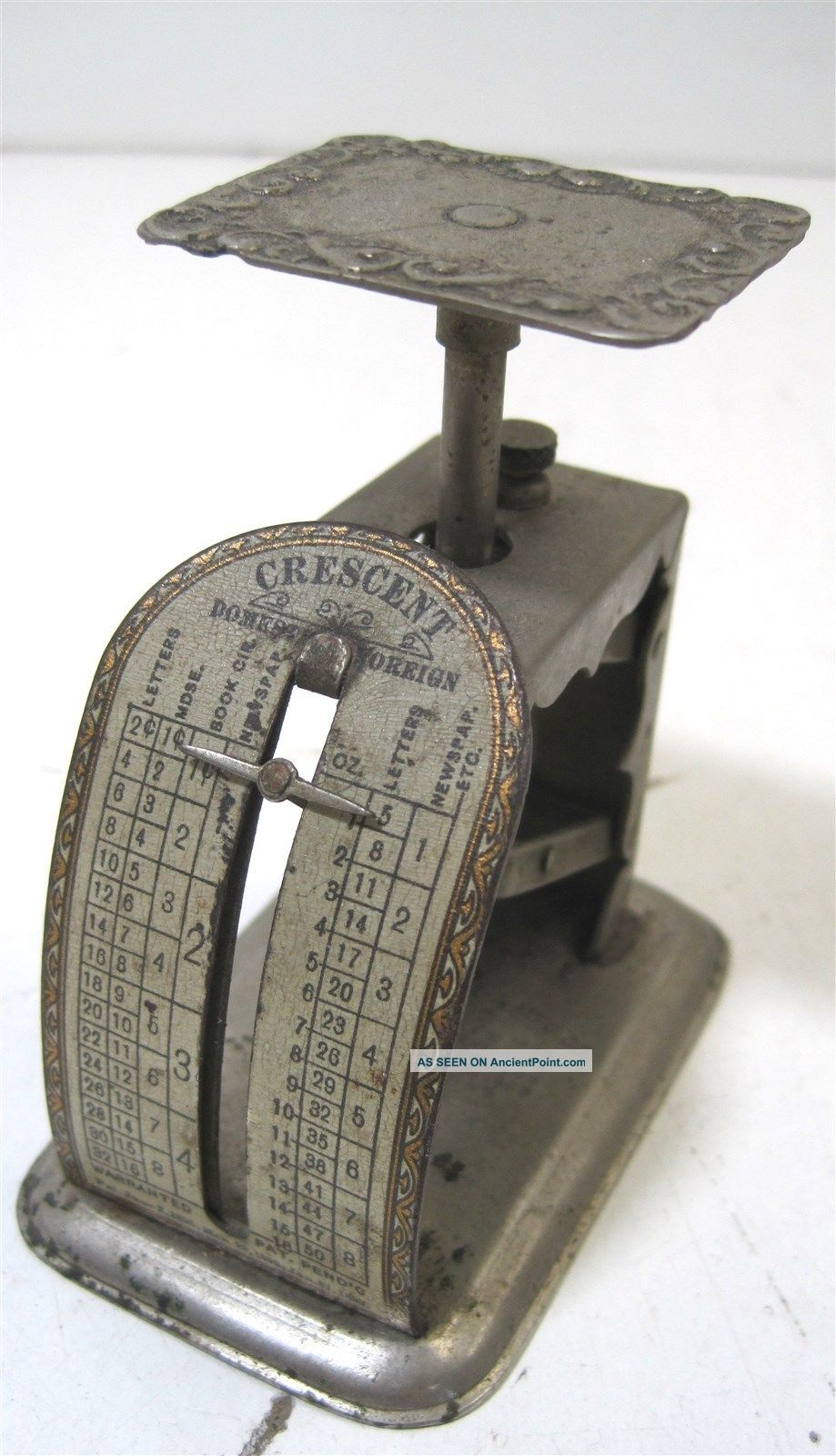Antique Metal Pelouze Scale & Mfg Co.  1899 1 Lb.  Postal Scale Domestic Foreign Scales photo