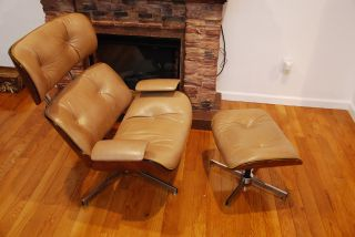George Malhauser Plycraft Loung Chair With Ottoman photo