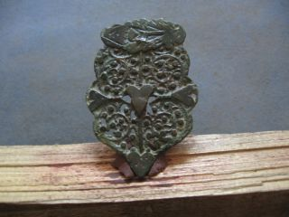 Large Ancient Celtic Open Work Bronze Warriors Fertility Amulet 500 - 300 B.  C.  2 photo