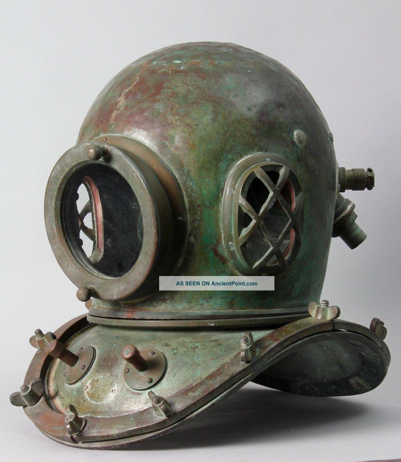 Japanese Authentic Diving Helmet.  12 Bolt.  Circa 1920 - 40 S G23 Diving Helmets photo