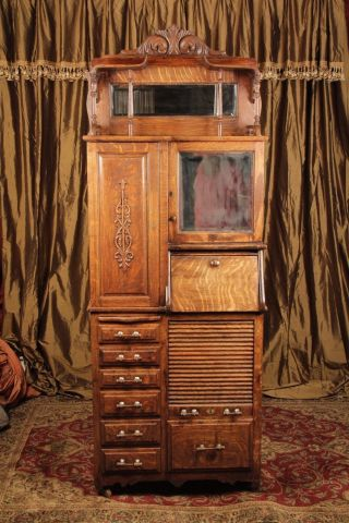 Antique Harvard Large Dental Cabinet Early 1900 ' S.  Will Deliver photo