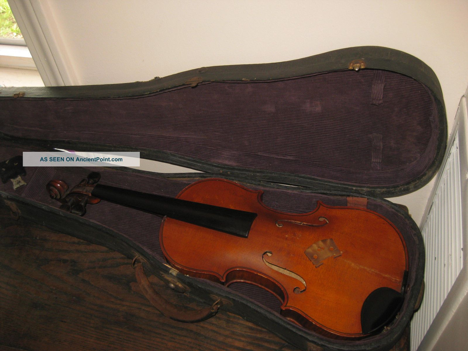 Antique Antonius Stradivarius Cremonensis Faciebat 4/4 Violin 1755 For Repair String photo