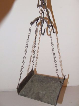 Antique 19th C.  Victorian Mercantile General Country Store Hanging Goods Scale photo