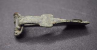 Ancient Roman Bronze Fibula Brooch 1st - 2nd Century Ad photo