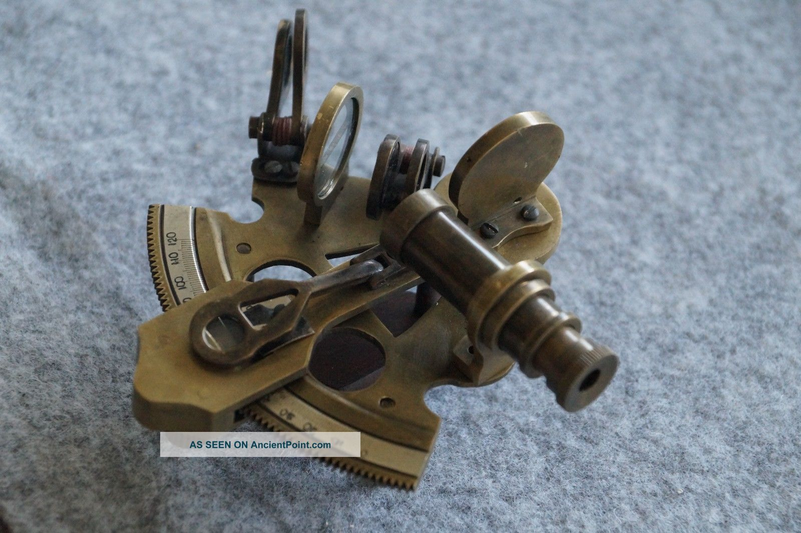 4  Solid Nautical Brass Sextant Instrument Navy Ship Gift Sextants photo