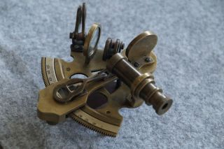 4  Solid Nautical Brass Sextant Instrument Navy Ship Gift photo