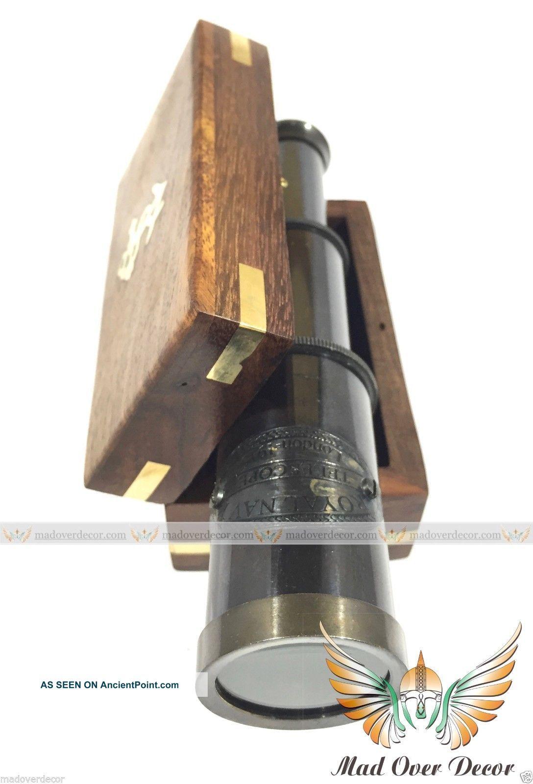 Vintage Pocket Antique Monocular Telescope Nautical Pirate Spyglass Scope Brass See more Vintage Pocket Antique Monocular Telescope Nau... photo