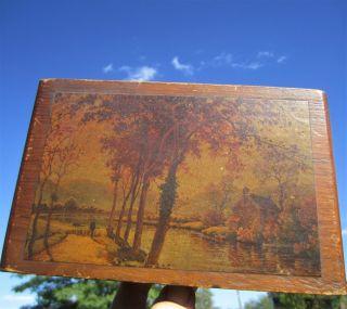 Antique Barricini Quality Candies Long Island Brooklyn York Wood Trinket Box photo