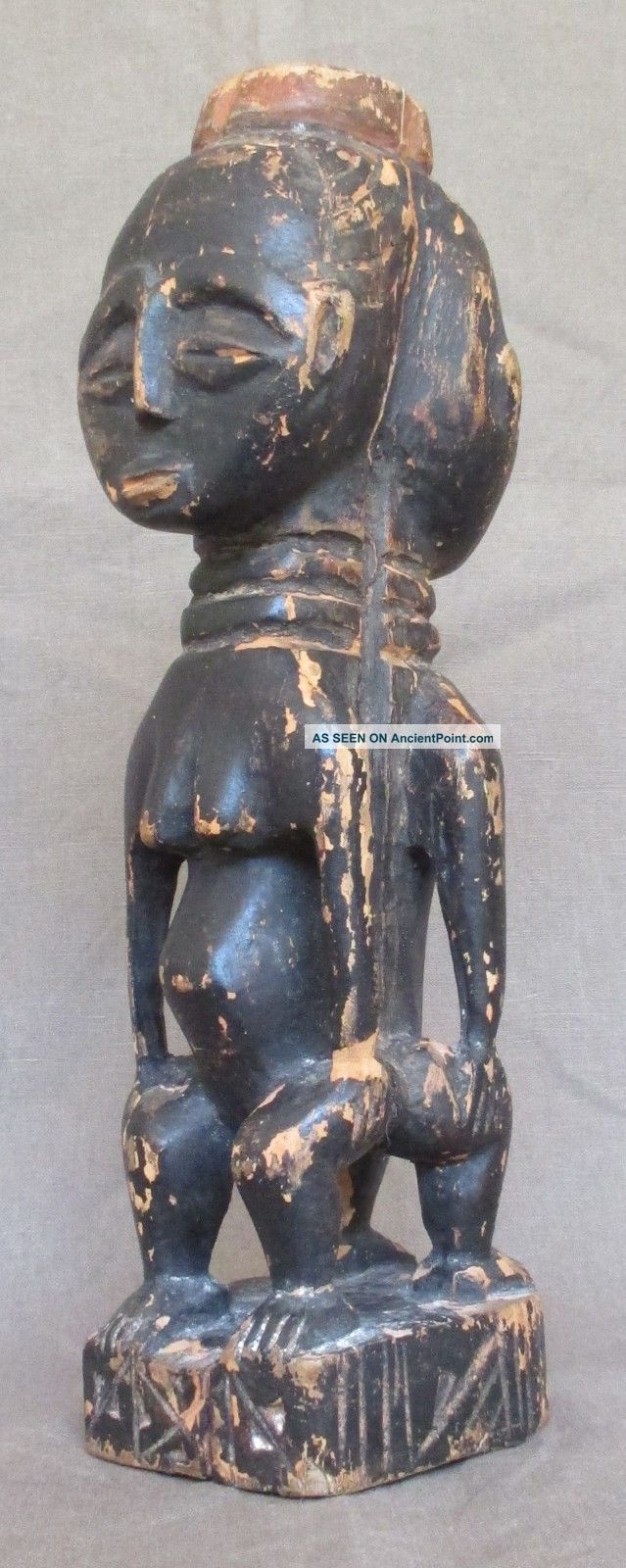 Rare Baoule Janus Carving - Guinean Forest (former ' Aof ') - Early 1900 Sculptures & Statues photo