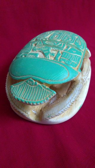 Ancient Egyptian Scarab (300 - 30 Bc) photo