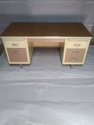 Vintage Metal Tanker Desk W/ Delivery This Weekend,  Only photo