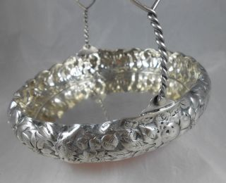 Simpson,  Hall & Miller Quadruple Silver - Plate Floral Bridal Bon - Bon Basket photo