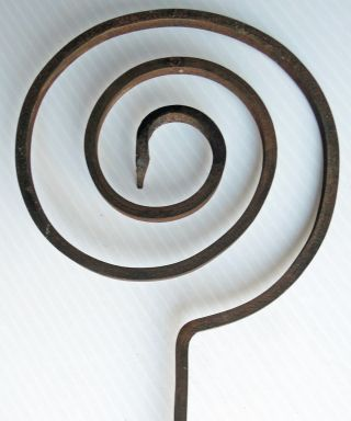 Antique Wrought Iron Spiral Cooking Tool photo
