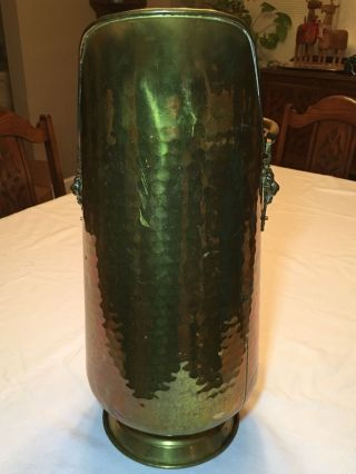Vintage Brass Scuttle Bucket 18 - 3/8