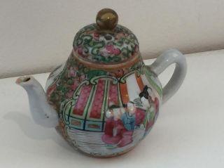 19th Century Miniture Chinese Teapot photo