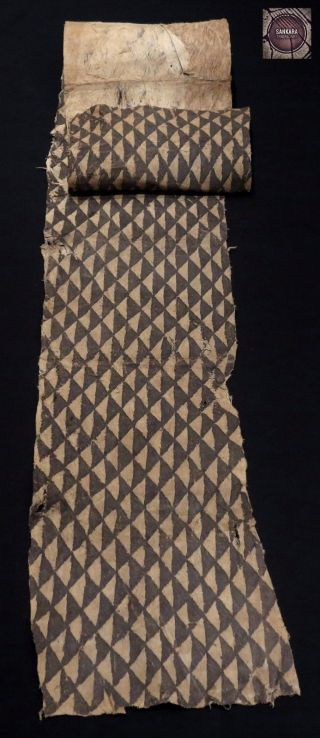 Fine Large Kuba Barkcloth – Dr Congo photo