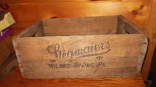 Vintage Wooden Stegmaier ' S Beer Box / Wilkes - Barre,  Pa. photo